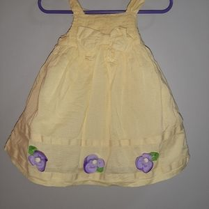 Gymboree Pretty Pansy Yellow Spring Sundress 6 12